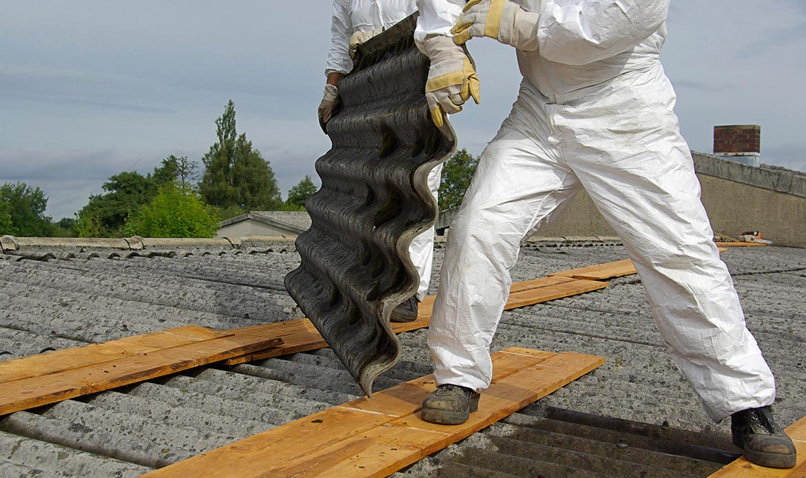 our history - asbestos removal from corrugated roof